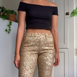 Free People Sequined Pants